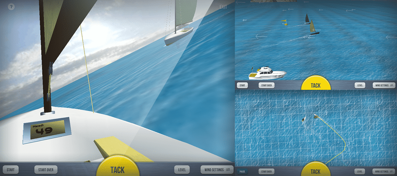Sailboat Racing: Multiple Navigational Perspectives