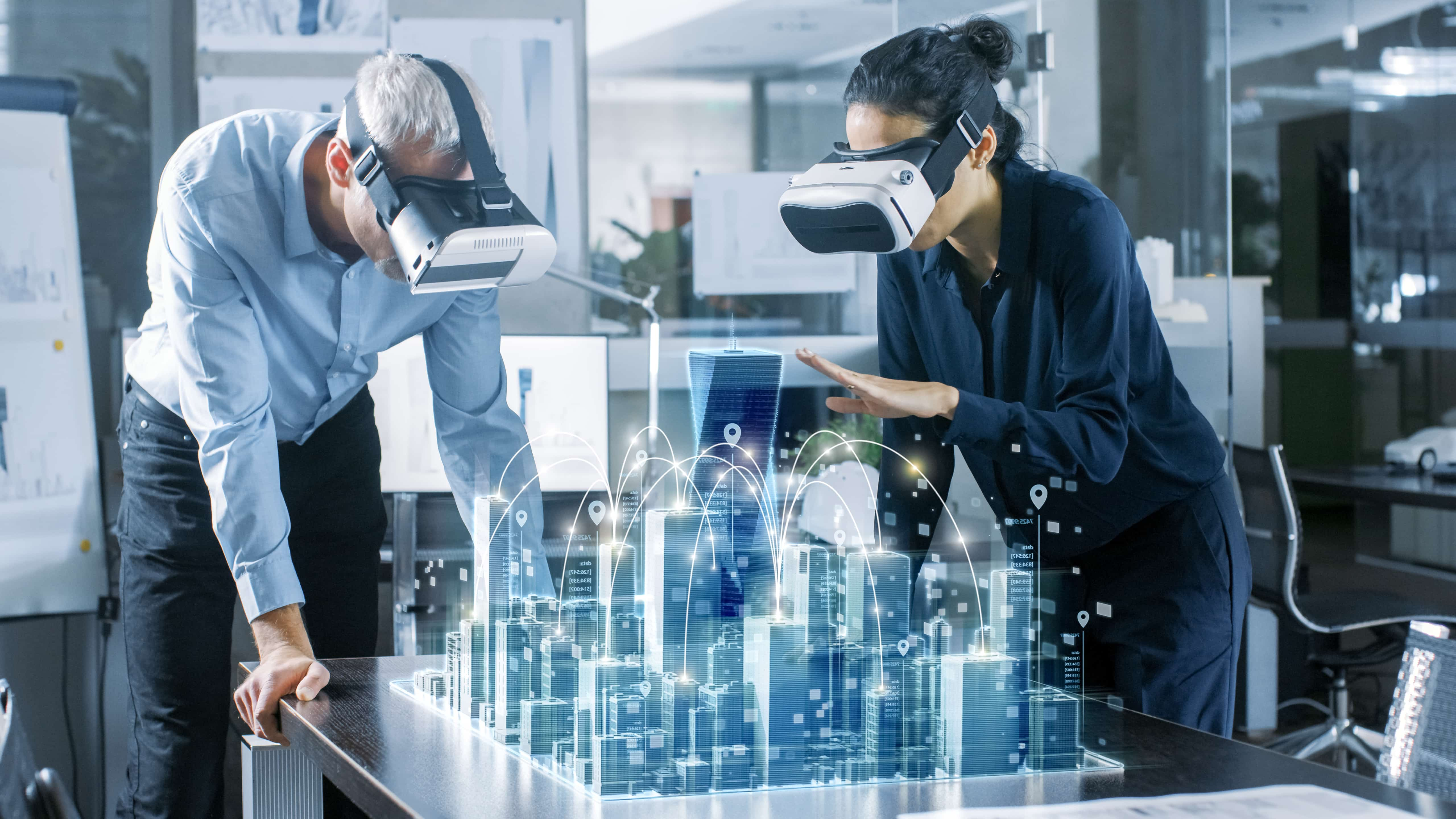 virtual reality and augmented reality used in business setting