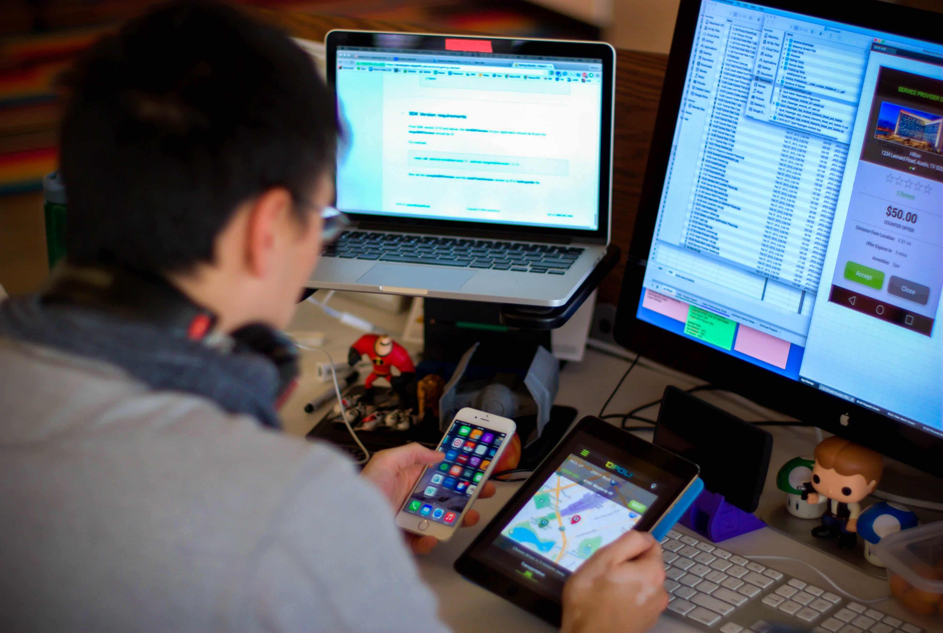 app developer testing mobile application
