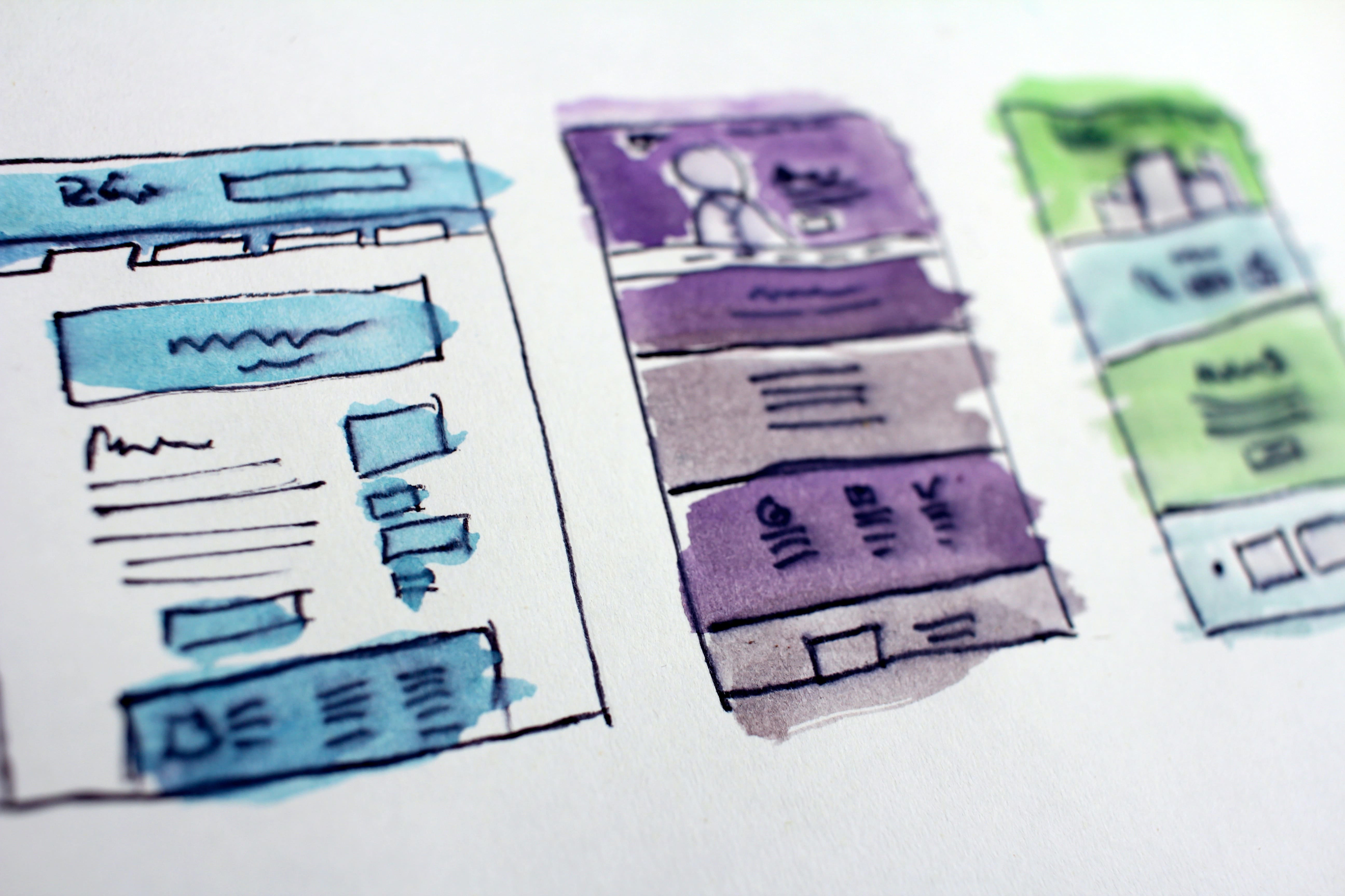 ui/ux wireframes and designs for mobile app