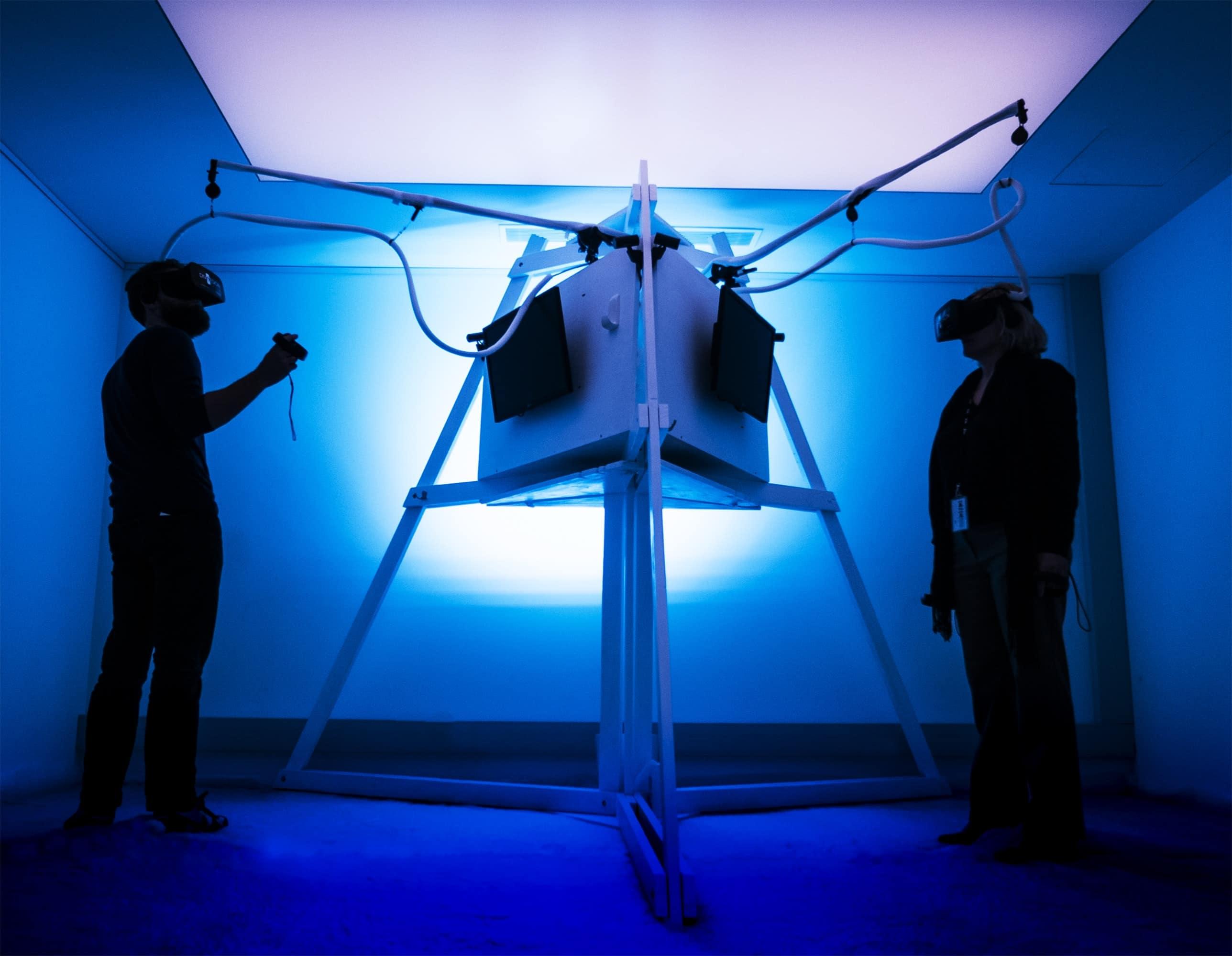 tethered virtual reality hardware
