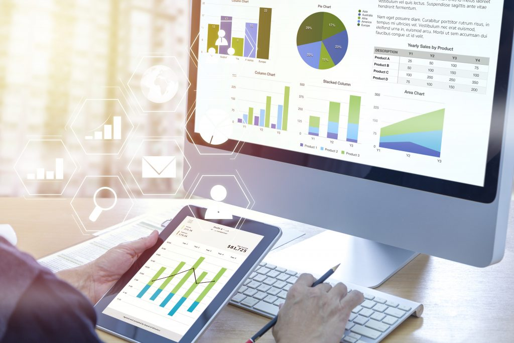 Business performance analysis with custom software for business